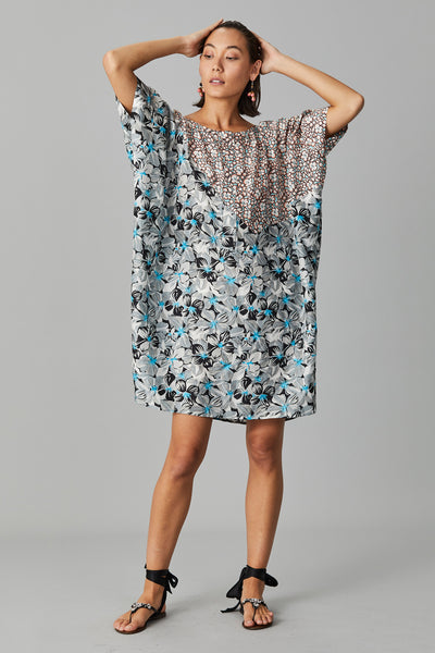 KIRA SILK KAFTAN DRESS