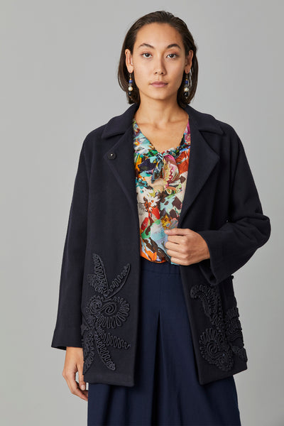 CORNELLI RIBBONWORK  COAT