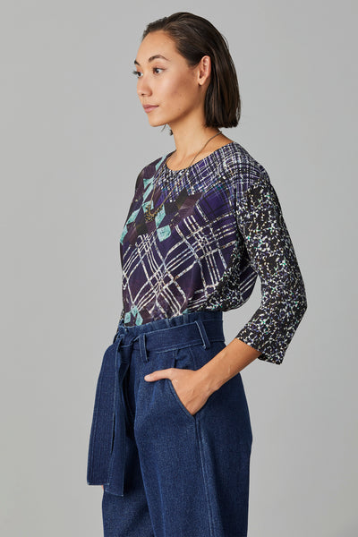 EON SILK PATCHED TOP