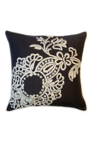 CREWELWORK PAISLEY BLOOM CUSHION