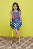 DENIM POLKA SUNDRESS- 6 YRS