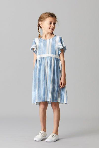RHEA STRIPE PINAFORE