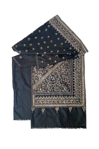 SILK KANTHA EMBROIDERED WRAP