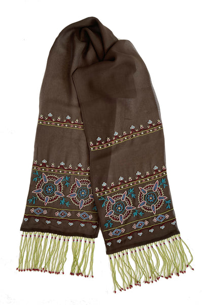 GYPSY BEADED GEORGETTE SCARF