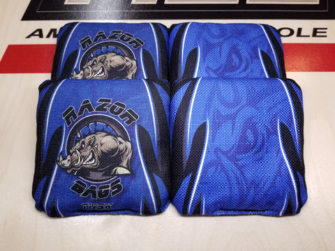 Razor Tusk <br> Blue Tribal <br> New Pro Cornhole Bags