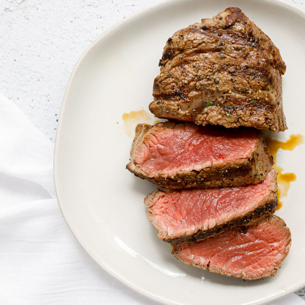 Grilled Bison Filet Mignon Steak (Tenderloin)