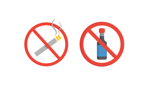 Smoking and consuming Alcohol is bad for you.