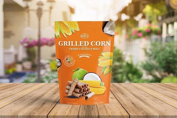Coconut Crispy Rolls Grilled Corn Flavour