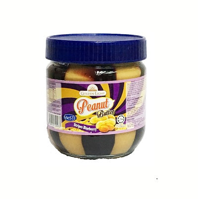 Golden Light Peanut Butter - Stripes Blueberry (small size)