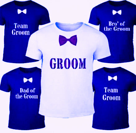 Party gear groom tshirt