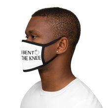 Load image into Gallery viewer, I Bend The Knee Graphic Labelled Design Unisex Fabric Reusable Facemask For Bride And Groom 100% Cotton Inside Mixed Print And White Color