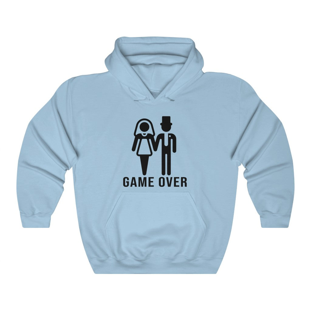 Game Over Labeled Unisex Long Sleeves Loose hoodies Sweatshirt with Pocket Multisize