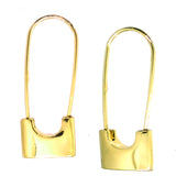 Alloy Geometric Lock Paper Clip Design Earrings.