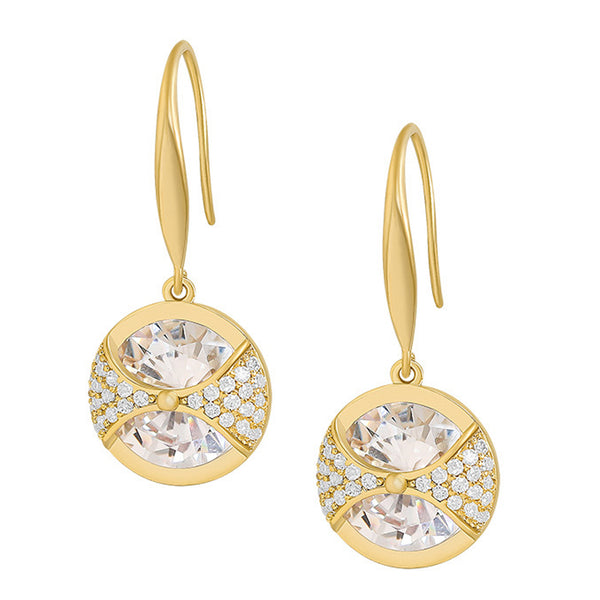Alloy Rhinestones Crystal Ball Drop Earrings.