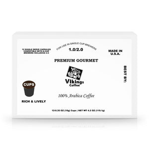 Vikings Coffee 60 Pack Single Serve Coffee Capsules - Vikings Coffee