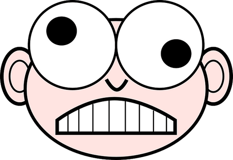 A muddled cartoon face representing that you have learnt a lot today on the Self Care blog.