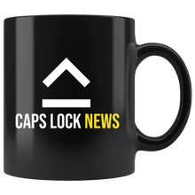Load image into Gallery viewer, Caps Lock News Standard Black Coffee Mug