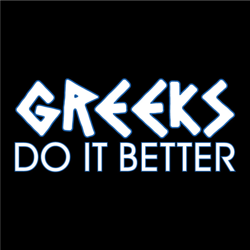 GREEKS do it better-outline