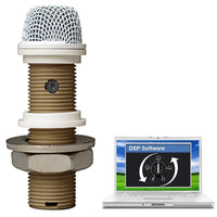 CAD Astatic Variable Polar Pattern Installation Boundary Button Microphone ~ DSP ~ White