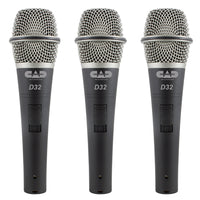 CAD Live D32 Supercardioid Dynamic Vocal Microphone - 3 Pack