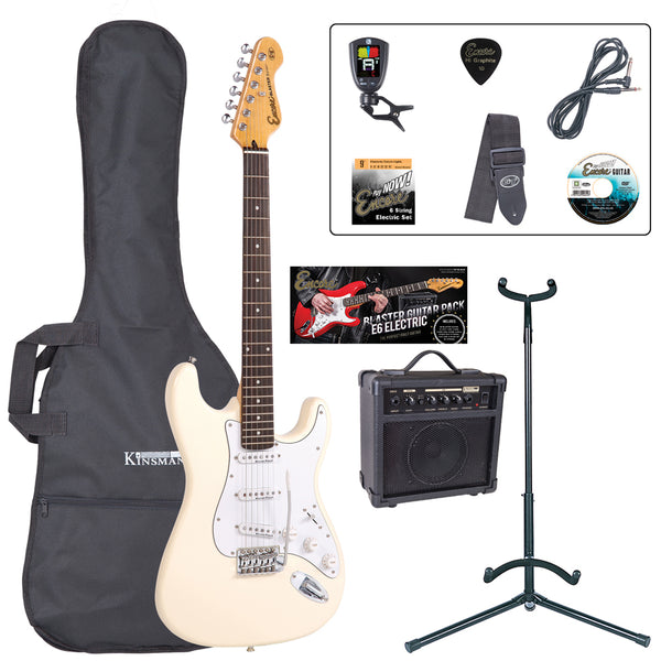 Encore E6 Electric Guitar Pack ~ Vintage White