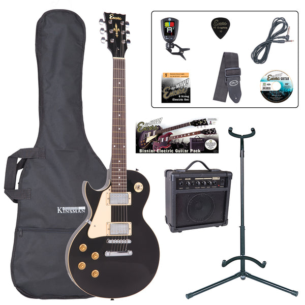 Encore E99 Electric Guitar Pack ~ Left Hand Gloss Black