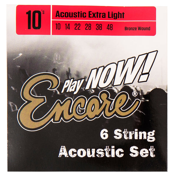 Encore Bronze Wound Acoustic Guitar String Set - Extra Light