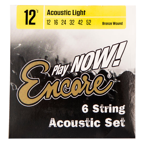 Encore 12 String Bronze Wound Acoustic Guitar String Set - Light