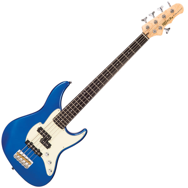 Fret-King Black Label Perception 5-String Bass ~ Candy Apple Blue