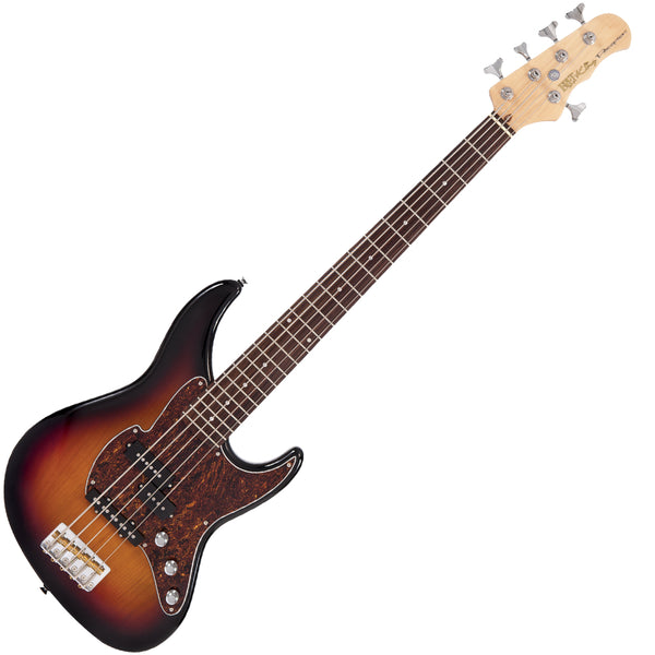 Fret-King Perception 5 String Bass ~ Original Classic Sunburst