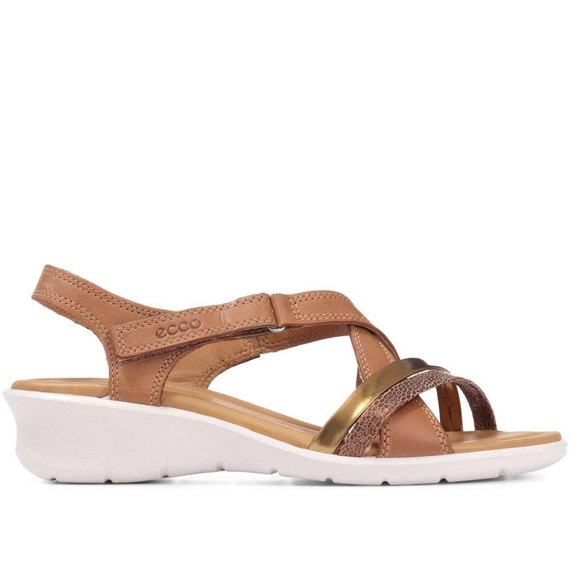 Felicia Touch Fastening Leather Sandal - ECCO129507 / 314 523