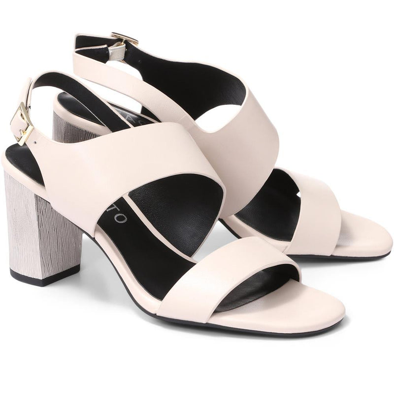 Block Heel Leather Sandal - BEL29504 / 315 289