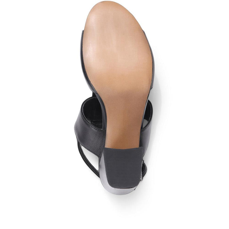 Heeled Leather Mule - WESTC29501 / 315 689