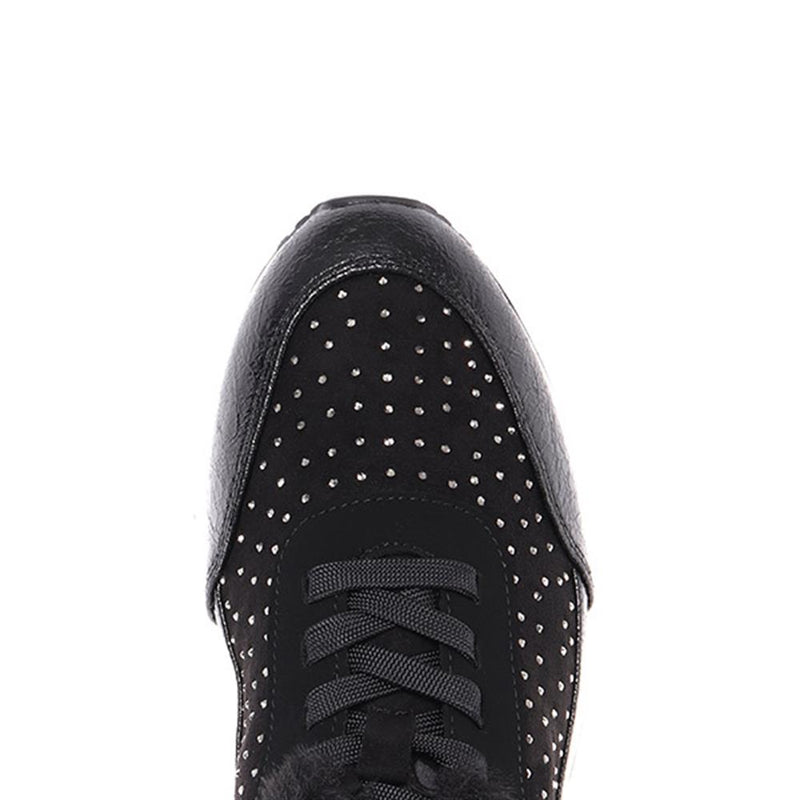 Embellished Lace-Up Casual Trainer - BUG30514 / 316 161