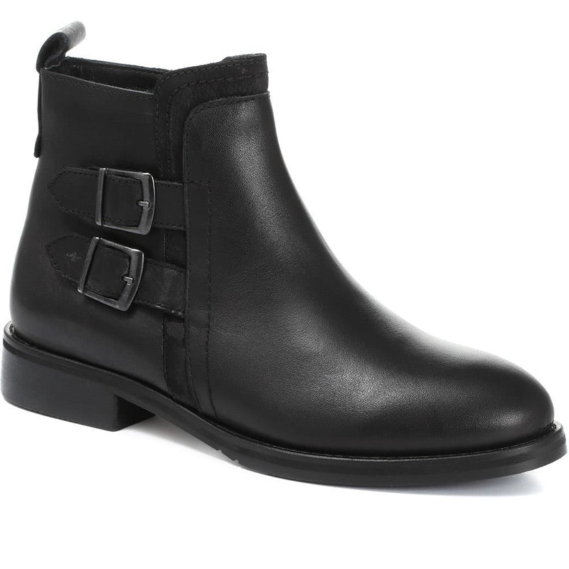 Leather Buckle Ankle Boot - META30500 / 317 134