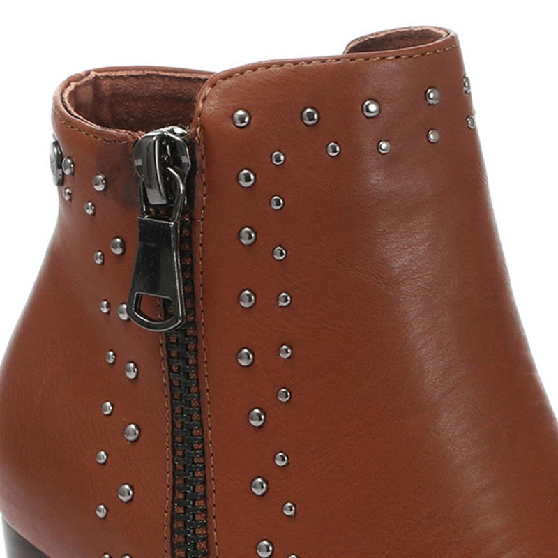 Embellished Heeled Ankle Boot - XTI30528 / 316 733