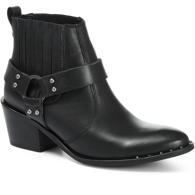 Leather Cowboy Ankle Boot - MKOC30508 / 317 087