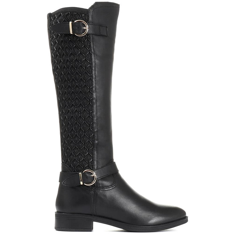 Casual Leather Knee High Boot - KAPSO30001 / 316 673