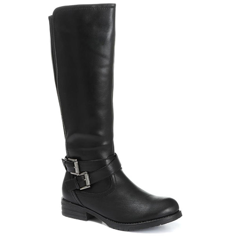 Casual Elasticated Knee High Boots - WOIL30040 / 316 691