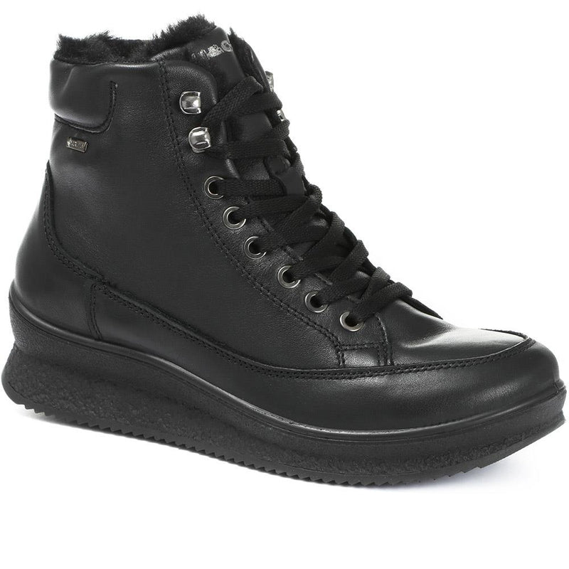 Gore Tex Water Resistant Leather Lace-Up Ankle Boo - IGICO30512 / 316 751