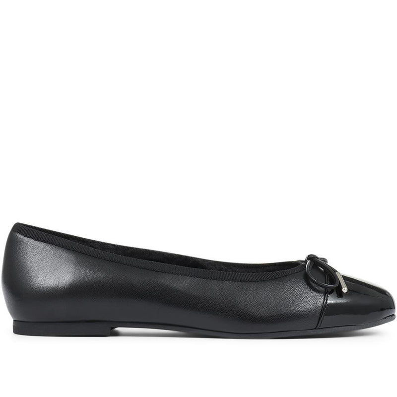 Leather Ballerina Flats - POLET30508 / 317 194