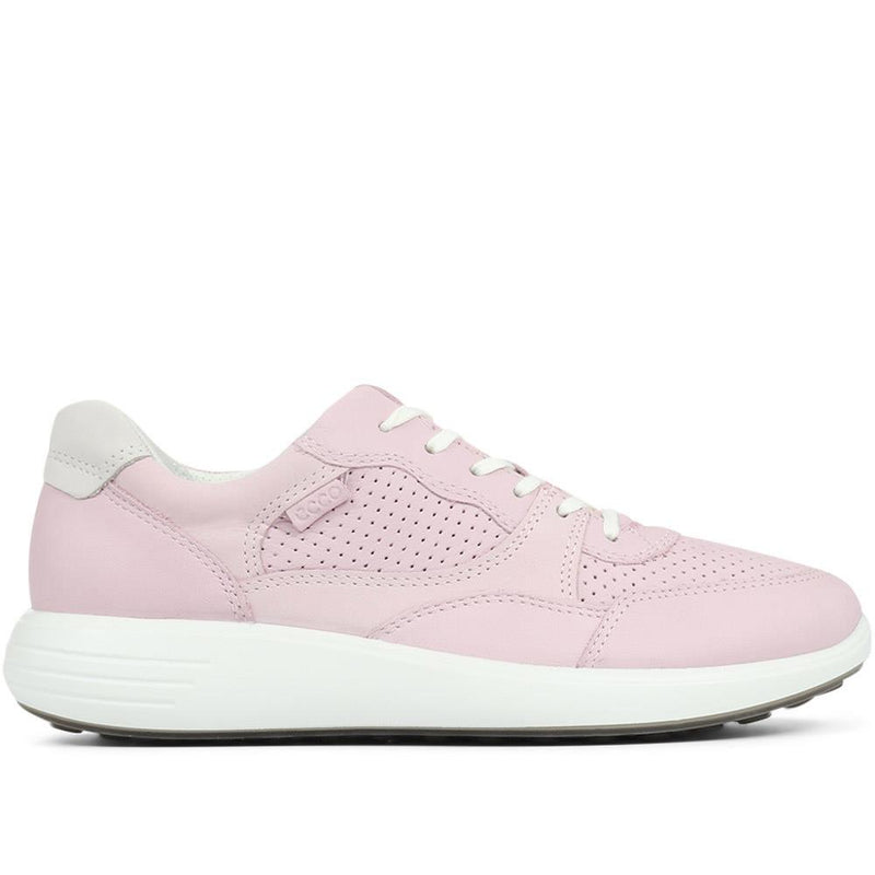 Ecco Soft 7 Runner Leather Lace-Up Trainer - ECCO131506 / 317 333
