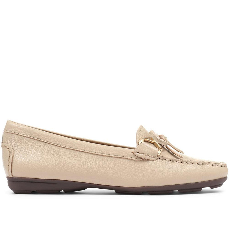 Tallulah Flat Leather Loafer Shoe - TALLULAH / 318 172