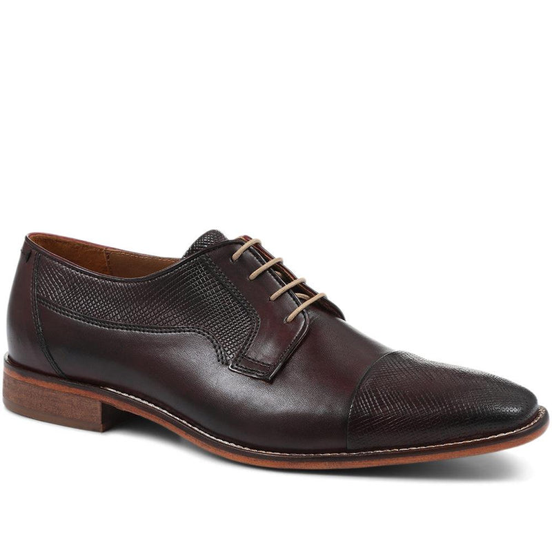 Leather Lace-Up Derby Shoe - ITAR31019 / 317 400