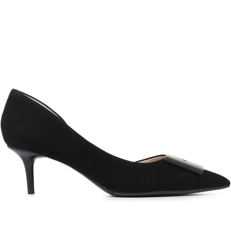 Heeled Leather Court Shoes - BEL31507 / 318 262
