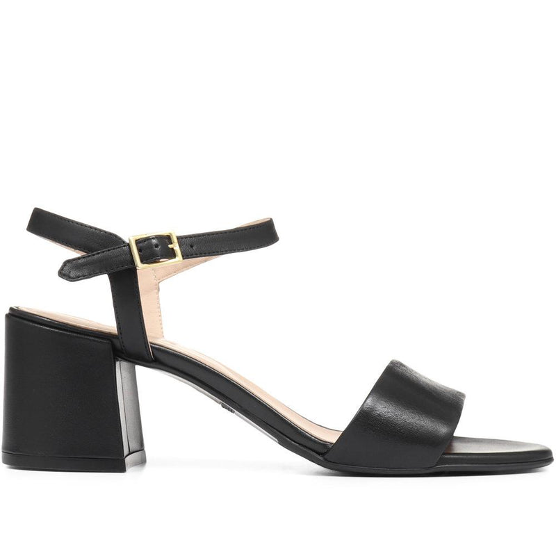 Leather Block Heel Sandal - CARM29505 / 314 492