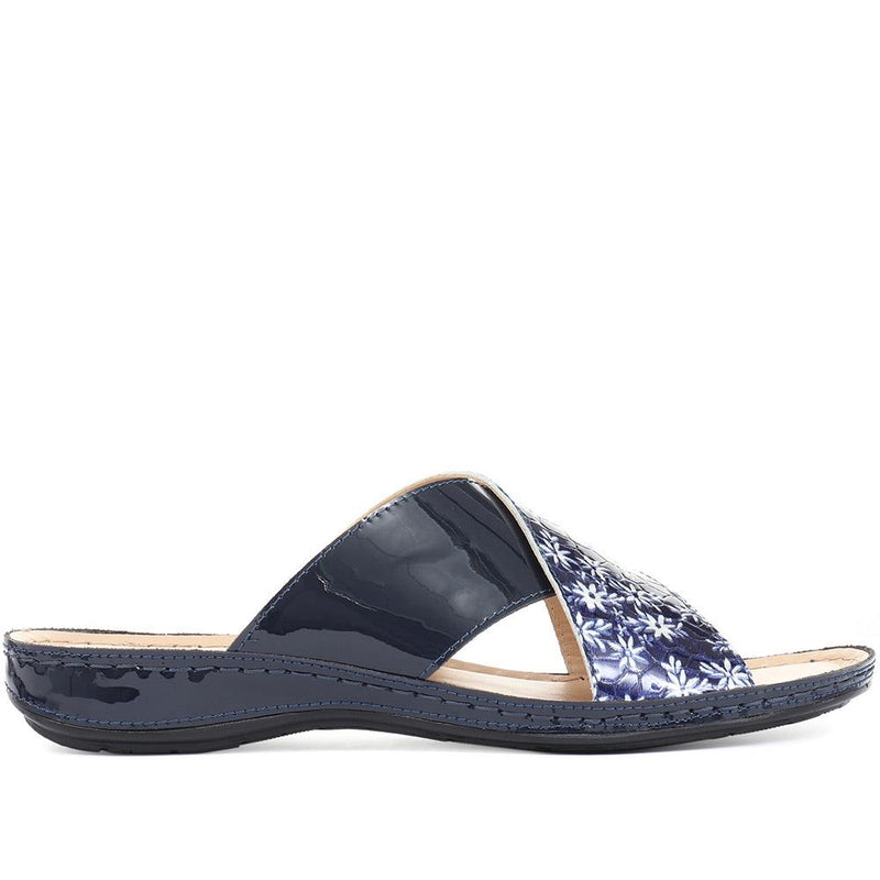 Leather Mule Sandals - GULF31031 / 318 310