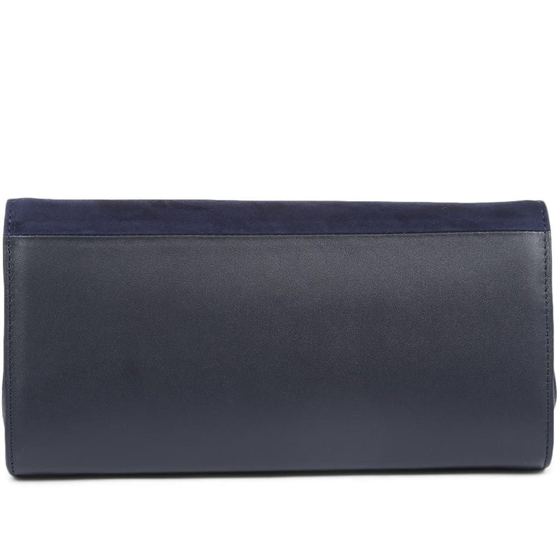 Suede Flap Clutch Bag With Detachable Strap - KAIS31508 / 317 536