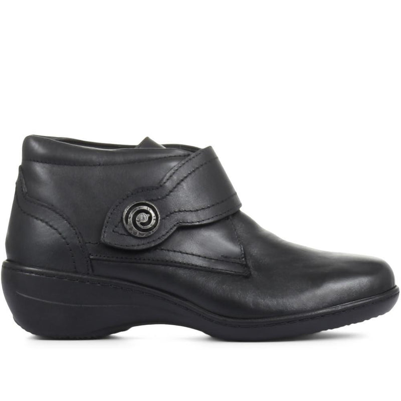 Wide Fit Leather Ankle Boots - HAK32003 / 319 191