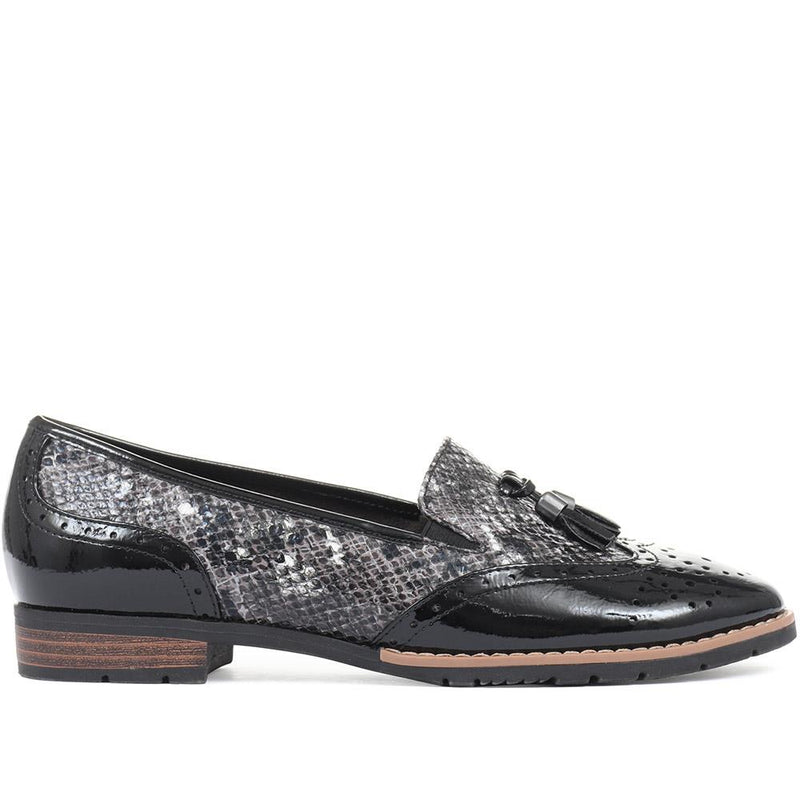 Wide Fit Patent and Tassel Loafers - JANSP26017 / 310 349